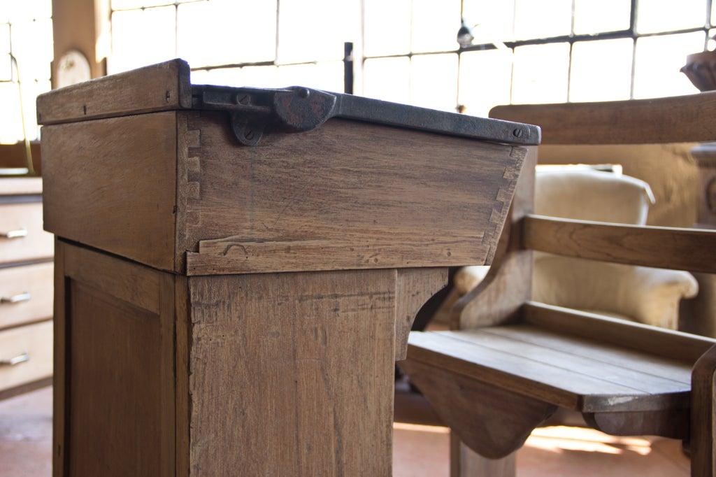 Victorian Oak Teacher's Desk 9