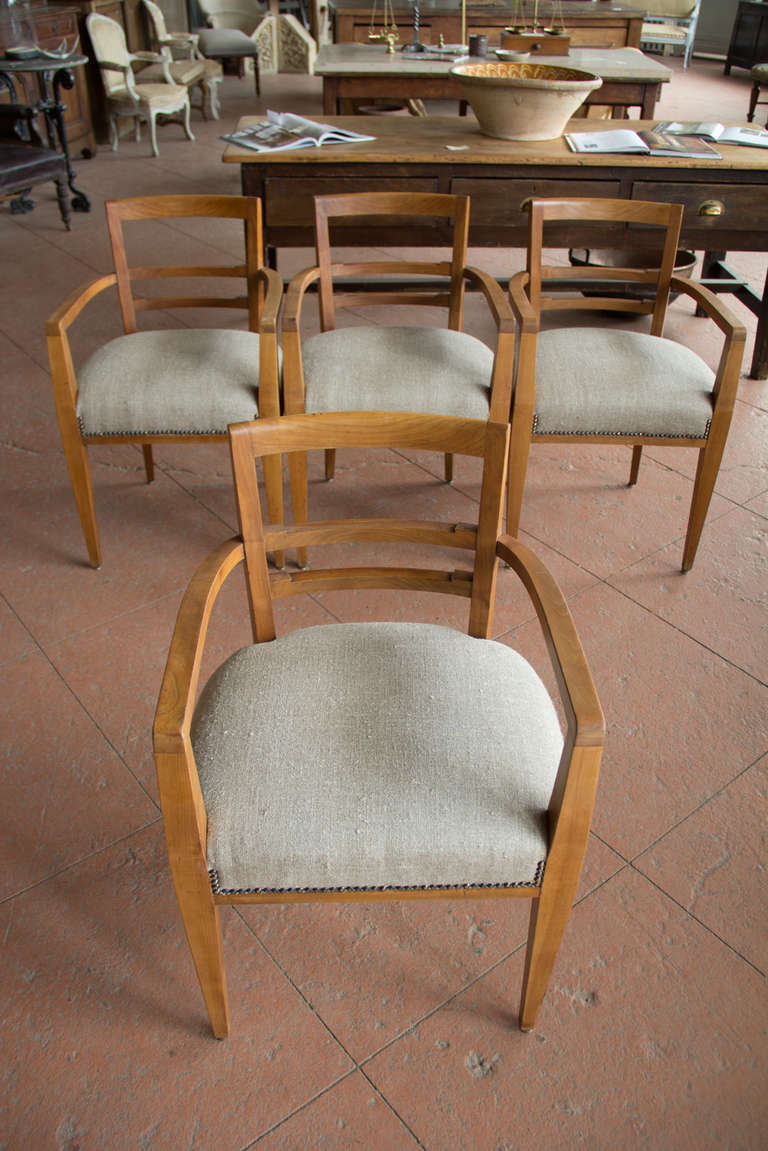 this set of four french art deco dining room chairs is no longer