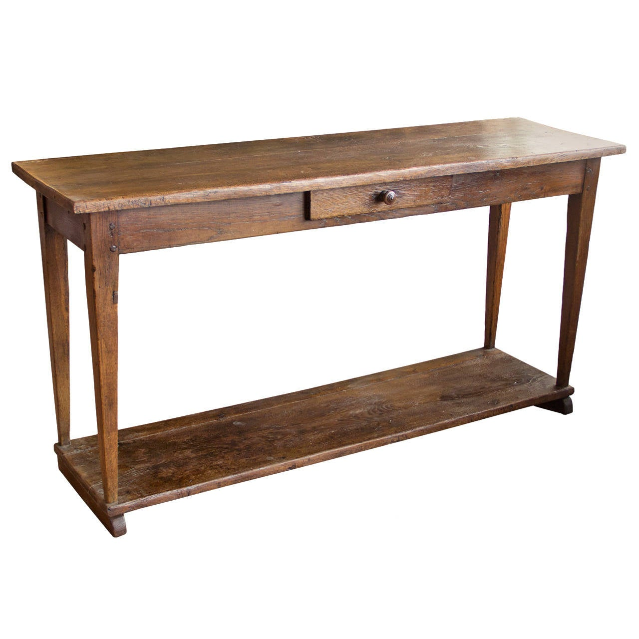 Antique French Farmhouse Server Table at 1stdibs