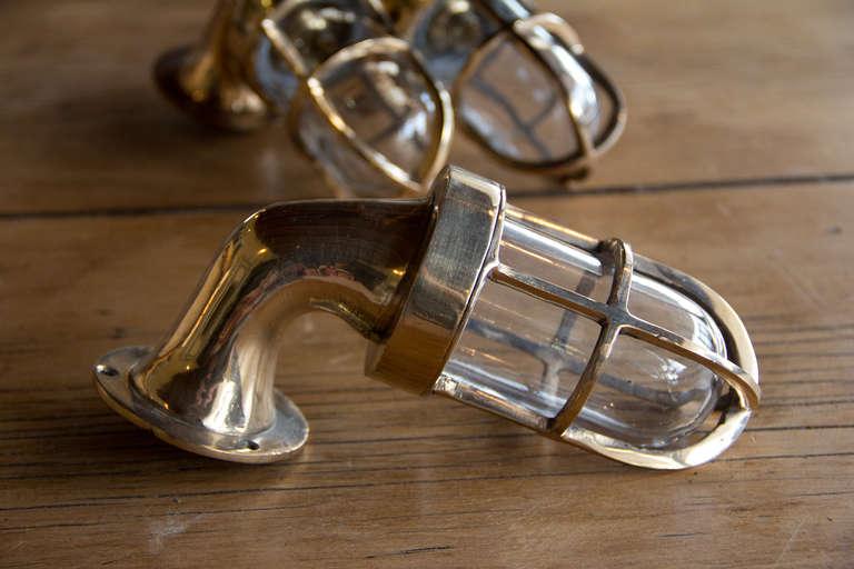 Set of Three Brass Nautical Lights at 1stdibs