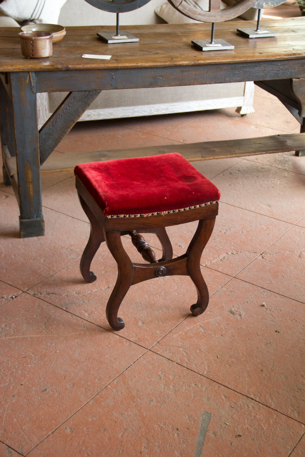 Vintage French Stool At 1stdibs
