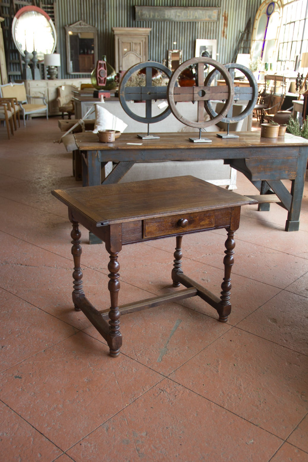 Antique English Oak Hall Table For Sale at 1stdibs