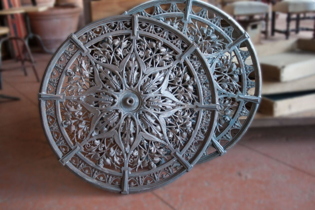 Rare Pair Of Victorian Cast Iron Ceiling Roses At 1stdibs