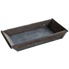 Vintage Wood and Metal Trough