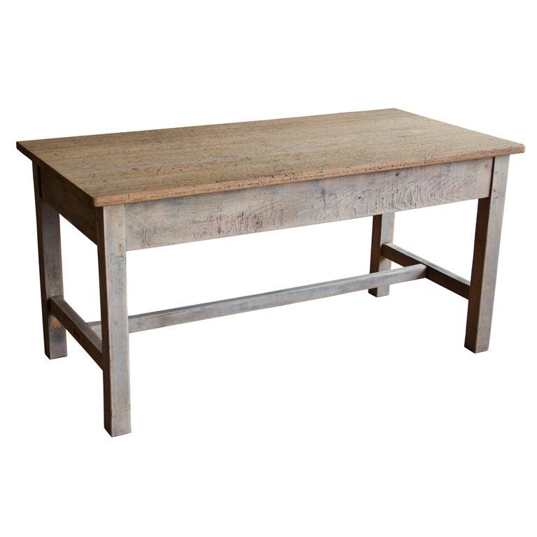 Vintage School Table At 1stdibs