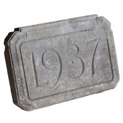 English Vintage Bathstone Plaque
