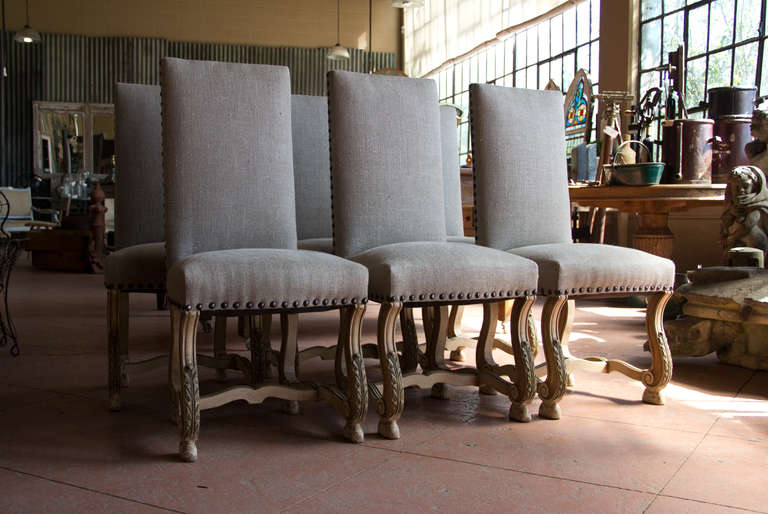 set of 6 vintage os de mouton dining room chairs at 1stdibs