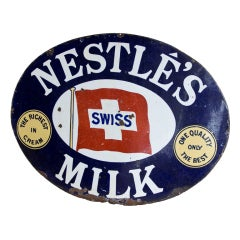 Vintage Nestle's Advertising Sign