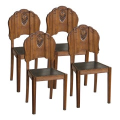 set of 4 art deco dining chairs art deco dining set
