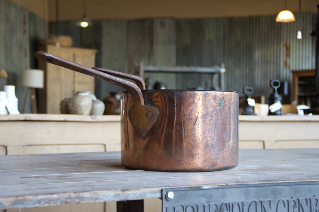 19th Century Antique English Copper Pan with Lid