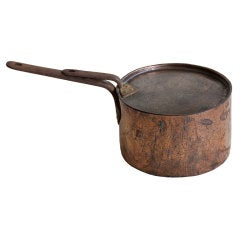 Antique English Copper Pan with Lid
