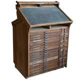 antique french le meuble d imprimerie typesetters station at 1stdibs. Black Bedroom Furniture Sets. Home Design Ideas