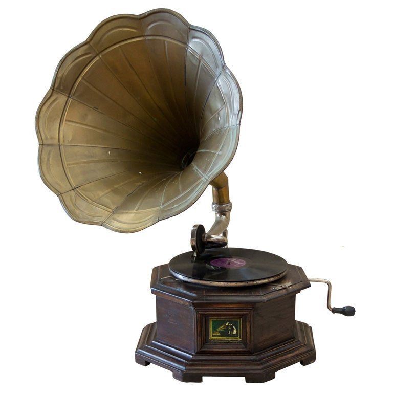 his master 39 s voice gramophone at 1stdibs. Black Bedroom Furniture Sets. Home Design Ideas