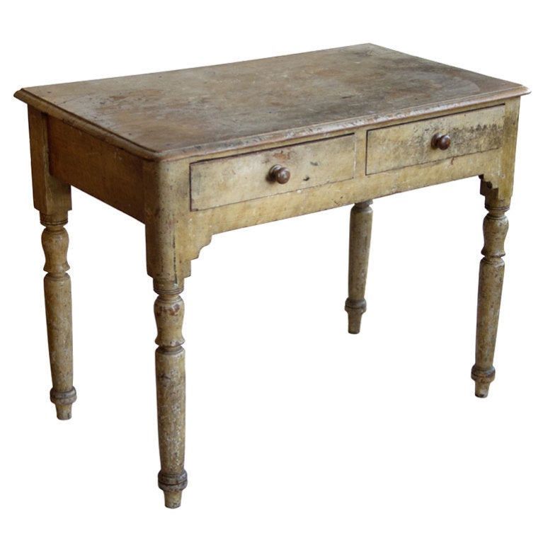 Rare Antique Irish Pine Desk 1 - Rare Antique Irish Pine Desk At 1stdibs