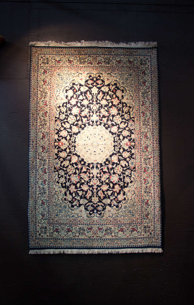 Vintage Persian Toudeshk Nain Carpet At 1stdibs