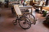 Antique Wooden Wheelchair image 2
