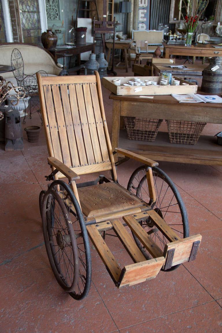 Antique wooden wheelchair at stdibs