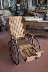 Antique Wooden Wheelchair image 3