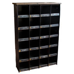 Vintage English Industrial Pigeon Hole Cabinet