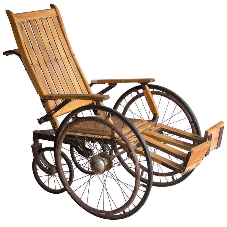 Antique Wooden Wheelchair At 1stdibs