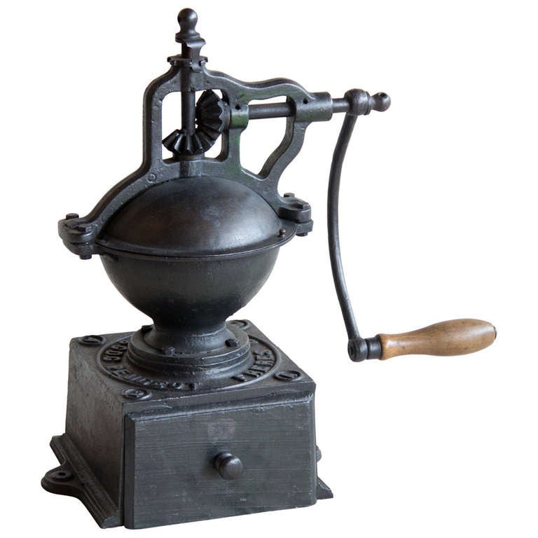 antique peugeot freres brevetes coffee mill at 1stdibs