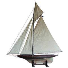 Huge 1920s English Racing Pond Yacht