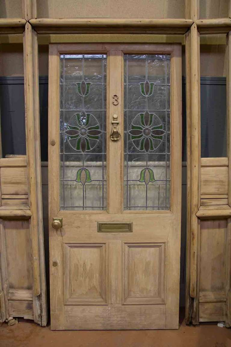 Victorian Leaded Glass Door At 1stdibs