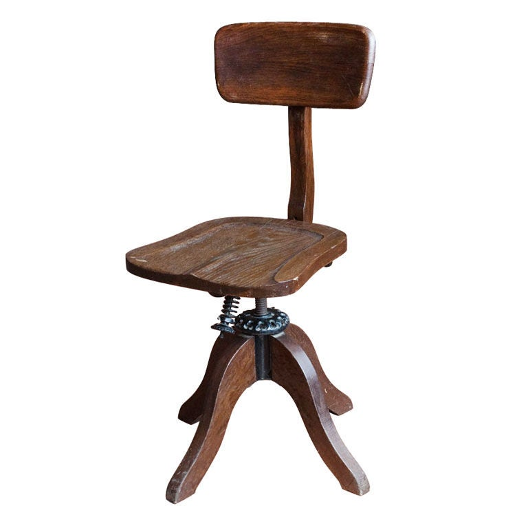 antique oak office chair at 1stdibs