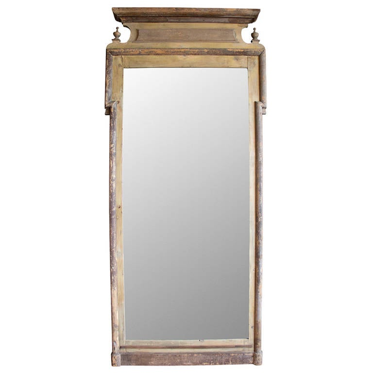 Antique louis philippe floor standing mirror at 1stdibs for Vintage floor length mirror