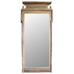 Antique Louis Philippe Floor Standing Mirror