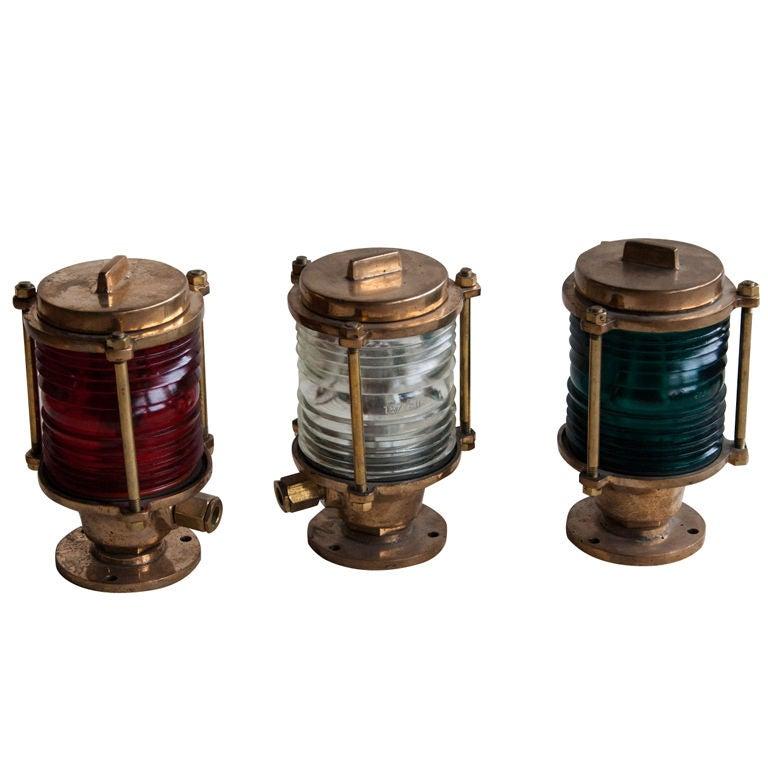 this set of 3 vintage navigation lamps is no longer available. Black Bedroom Furniture Sets. Home Design Ideas