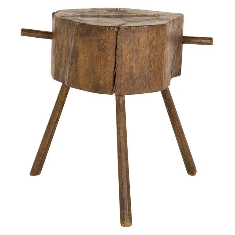 Antique Wood Butcher Block Table At 1stdibs