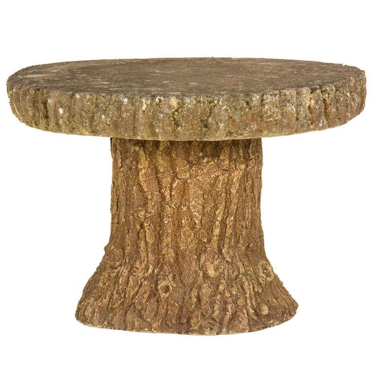 Antique Cement Faux Bois Table at 1stdibs ~ Table Bois Vintage