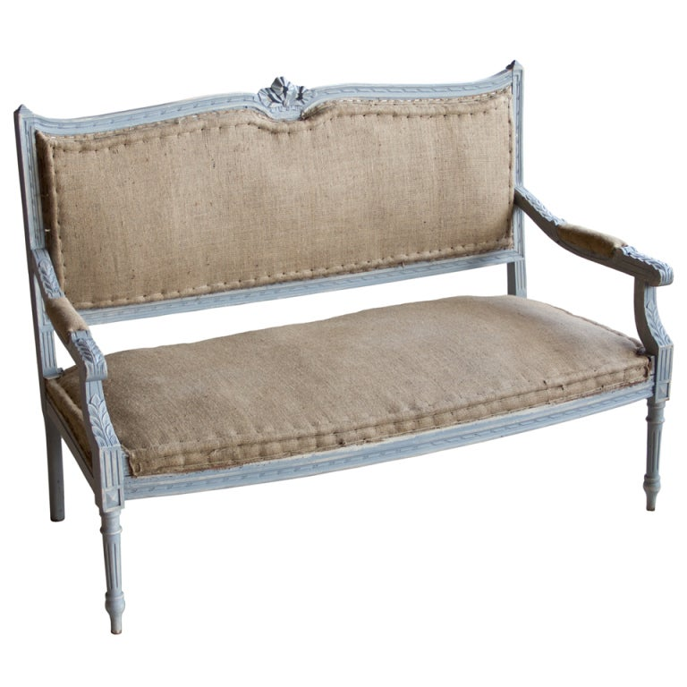 Antique French Louis Xvi Style Settee At 1stdibs