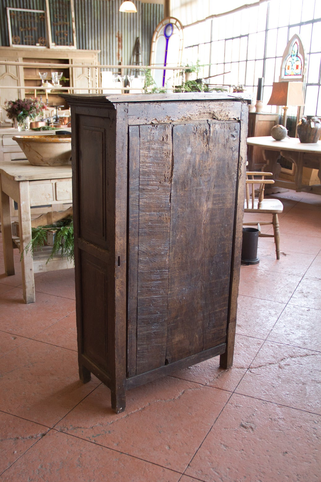 Antique petite french oak armoire at 1stdibs for Armoire penderie petite largeur