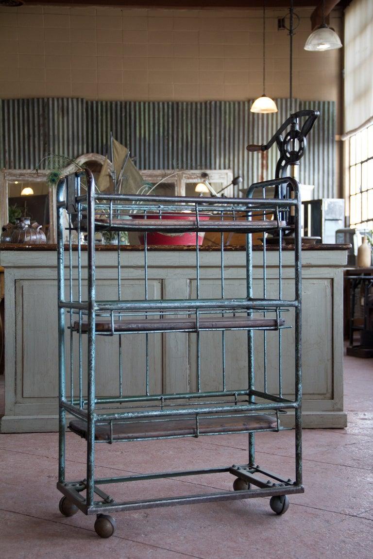 Vintage Industrial Trolley At 1stdibs