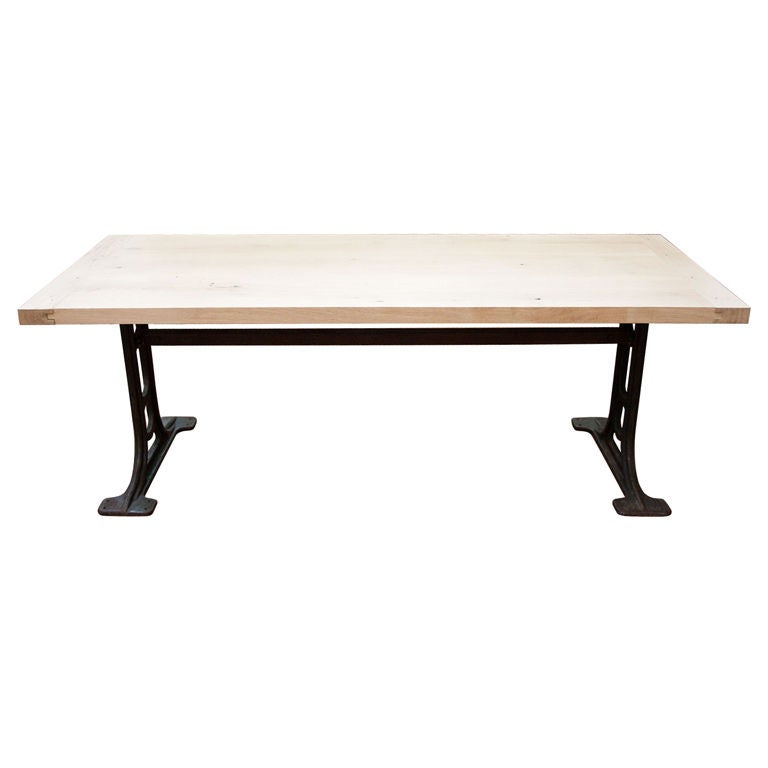 Industrial dining room table at 1stdibs - Industrial kitchen tables ...