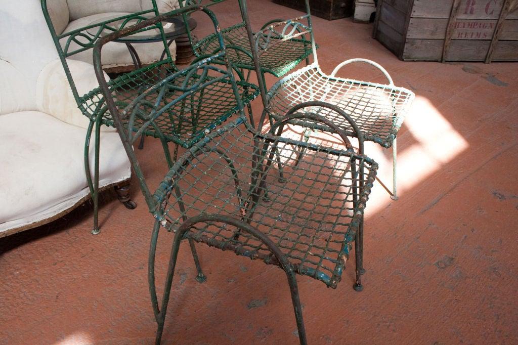 Set of 4 Vintage Wirework Garden Chairs 3