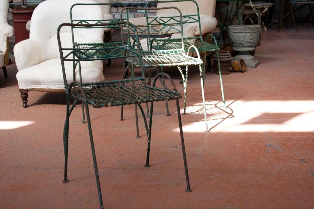 Set of 4 Vintage Wirework Garden Chairs 4