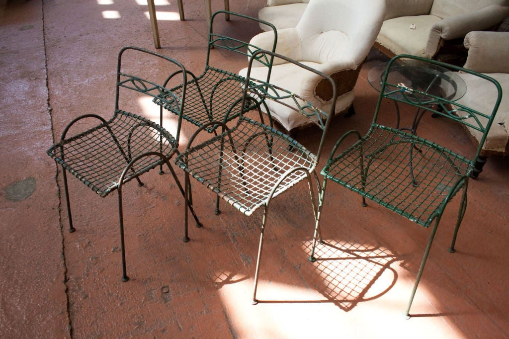 Set of 4 Vintage Wirework Garden Chairs 5