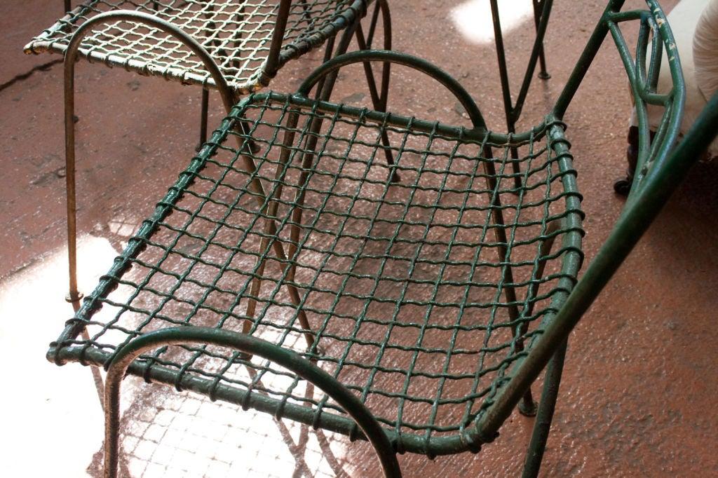 Set of 4 Vintage Wirework Garden Chairs 6