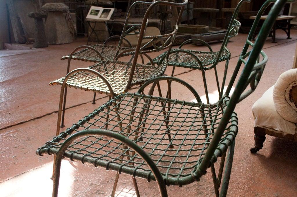 Set of 4 Vintage Wirework Garden Chairs 7