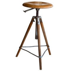 Vintage Architect's Swivel Stool