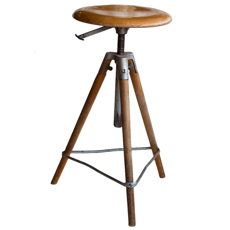 Vintage Architect S Swivel Stool At 1stdibs
