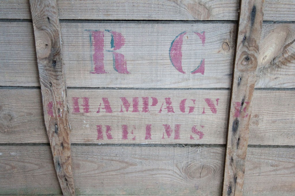 Vintage Champagne Crate For Sale At 1stdibs