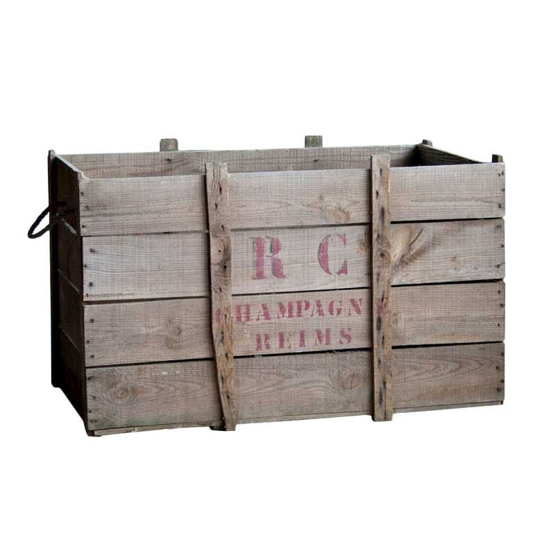 vintage champagne crate for sale at 1stdibs. Black Bedroom Furniture Sets. Home Design Ideas