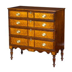 Hepplewhite Mahogany, Birch Inlaid Chest of Drawers, New Hampshire, circa 1815