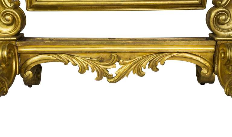 French Large Gold Leaf Rococo Revival Dressing Mirror, circa 1860 For Sale