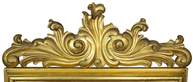 Large Gold Leaf Rococo Revival Dressing Mirror, circa 1860 In Excellent Condition For Sale In Providence, RI