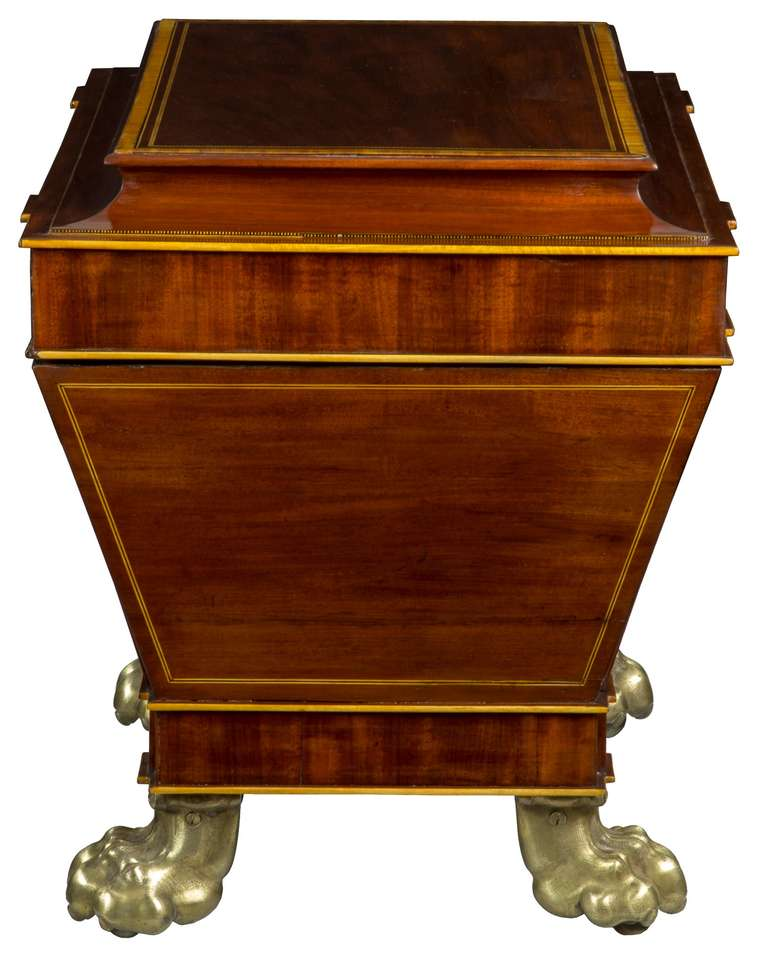 Copper Magnificent Regency Mahogany Cellaret For Sale